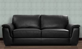 Furny Bane Three Seater Sofa (Black)