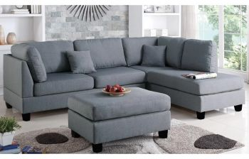 Furny Brenna Five Seater RHS L shape Sofa