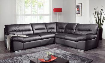 Furny Casario Five Seater Corner Sofa - (Black)