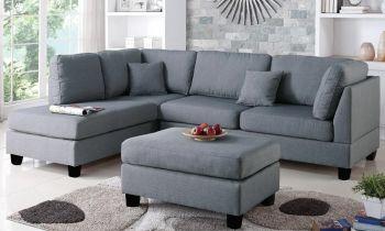 Furny Brenna Five Seater LHS L shape Sofa