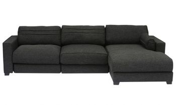 Furny Chapman RHS Two Seater with Lounger Sofa (Dark Grey)