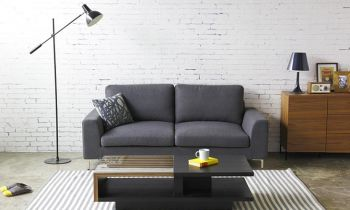 Furny Fresto Three Seater Sofa (Grey)