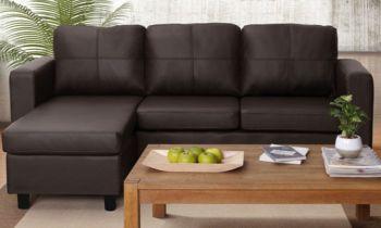 Furny Davis 3+1 Ottoman L Shape Leatherette Sofa