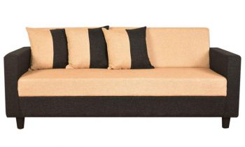 Furny Amazia Three Seater Sofa (Cream)