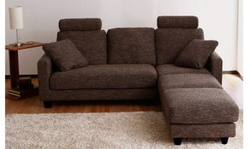 Furny Rochester 3+1+1 Ottoman Five Seater L Shape Interchangeable Sofa