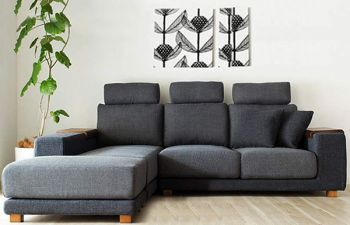Furny 5 Seater Berlin Fabric L Shape Sofa Set  (Dark Grey)