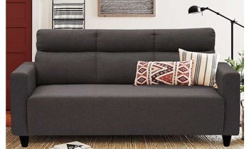 Furny Bravson Three Seater Sofa Set in Fabric (Dark Grey)
