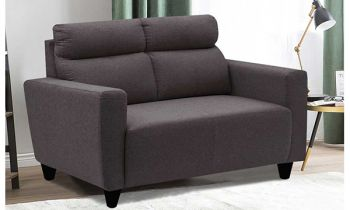 Furny Bravson Two Seater Sofa in Fabric (Dark Grey)