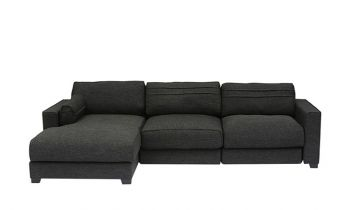 Furny Chapman LHS Two Seater with Lounger Sofa (Dark Grey)