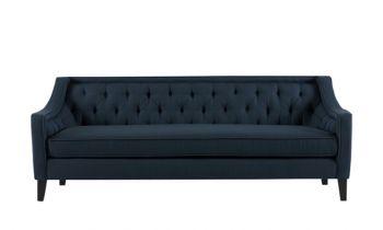 Furny Clyde Three Seater Sofa (Dark Blue)