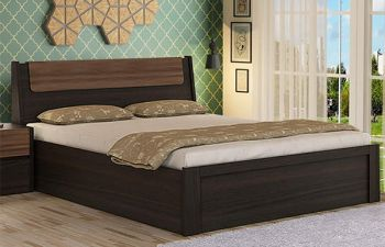 Furny Daniel Bed with Hydraulic Storage (Brown)