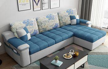 Furny Dorando 4 Seater L Shape Sofa Set In