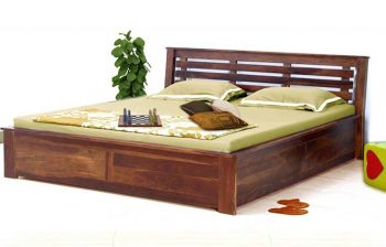 Furny Evelano Teak Wood Bed