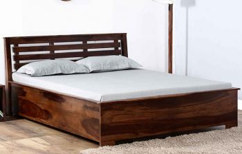 Furny Evelano Hill Teak Wood Bed