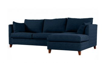 Furny Farina Four Seater L shape RHS Sofa (Dark Blue)