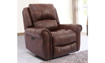 Furny Mario One seater Recliner in Leatherette (Brown)