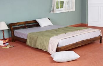 Furny Geneva Teak Wood Bed