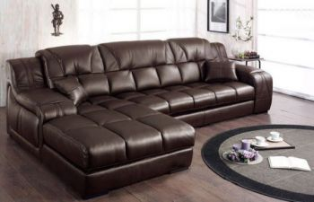 Furny Hebuka Four Seater LHS L shape sofa (Brown)