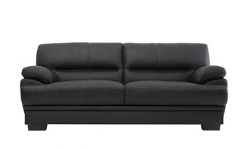 Furny Hector Three Seater Sofa (Black)