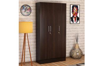 Furny Kenstaron 3 Door Wardrobe in Wenge Finish