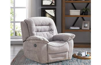 Furny Larossa 1 Seater Recliner Sofa For Living Room (Light Grey)
