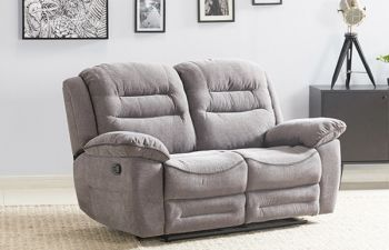 Furny Larossa 2 Seater Recliner Sofa For Living Room (Light Grey)