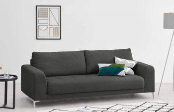 Furny Lucifer 3 Seater Sofa Set (Dark Grey)
