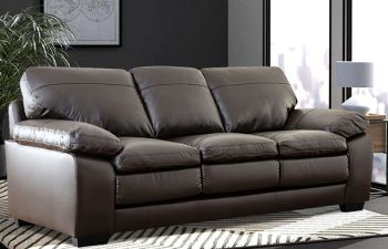 Furny Napster 3 Seater Sofa For Living Room in Leatherette (Brown)