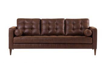 Furny Niva Three seater Sofa (Brown)