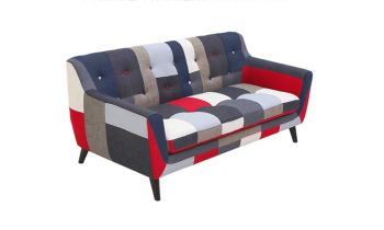 Furny Ritchie Three Seater Sofa - (Multicolor)