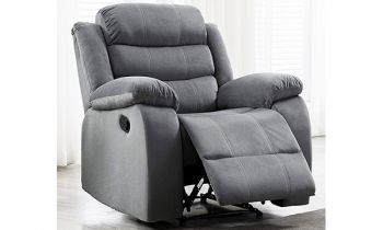 Furny Rochas Single Seater Recliner in Fabric (Light Grey)