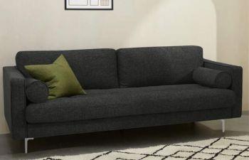 Furny 3 Seater Scotland Fabric Sofa Set (Grey)
