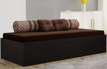 Furny Viviano Engineered Wood Single Size bed with Box Storage (Brown)