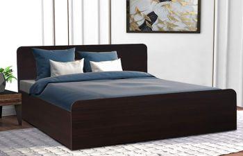 Furny Wisdano Engineered Wood Bed with Box Storage (Brown)